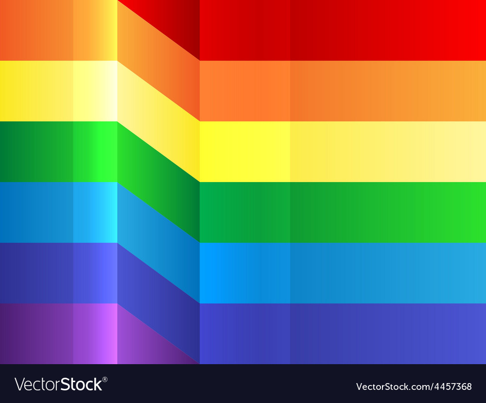Rainbow bending stripes background vector