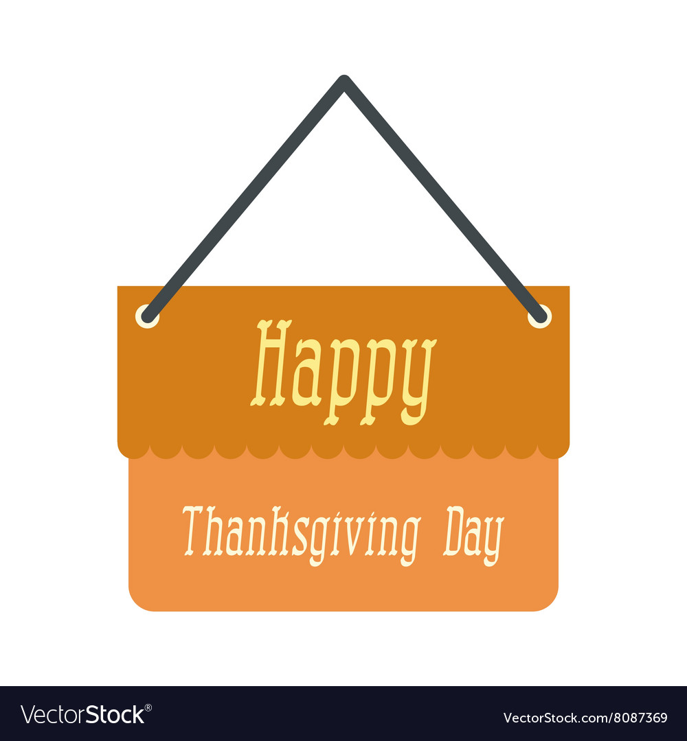 Signboard thanksgiving icon vector