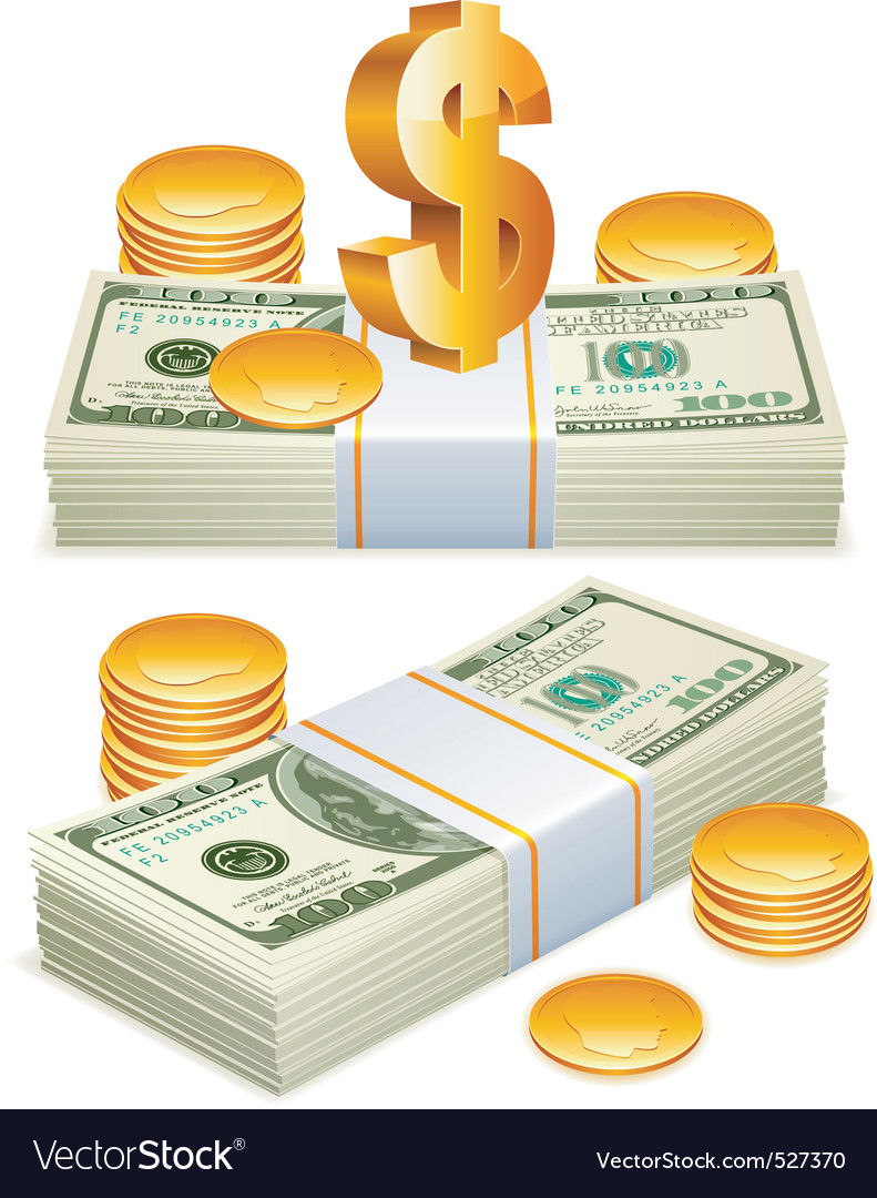 Money packs vector