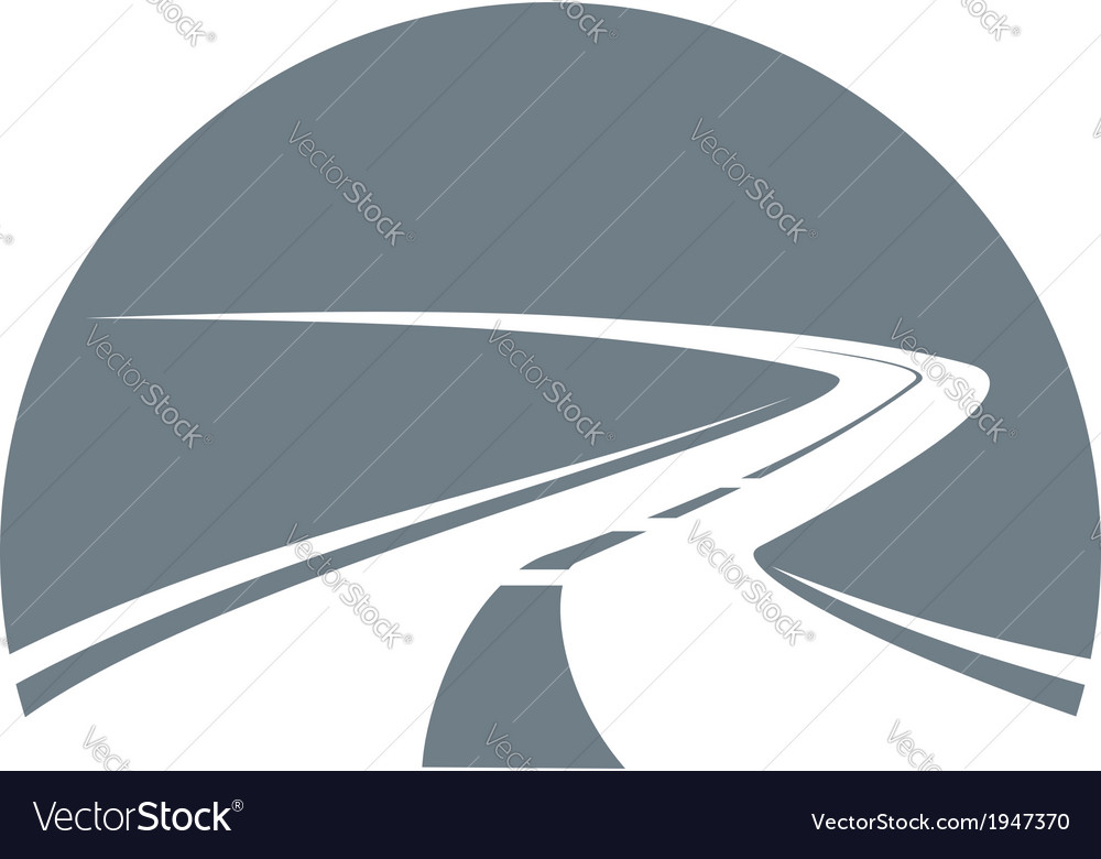 Road receding into infinity vector