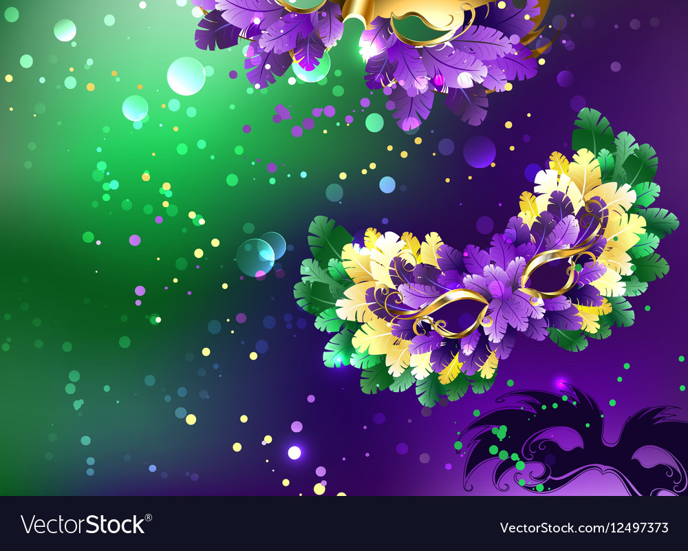 Background with fluffy masks vector