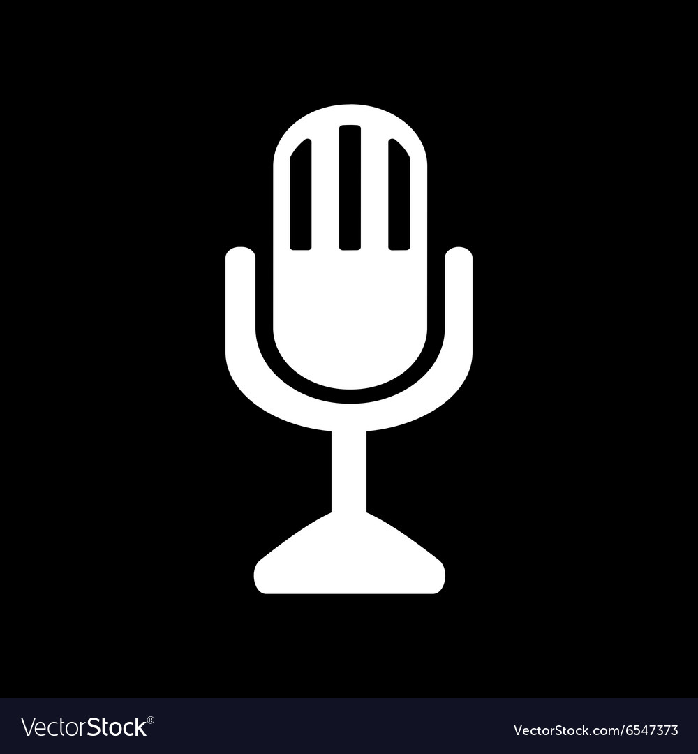 Mic icon microphone symbol flat vector