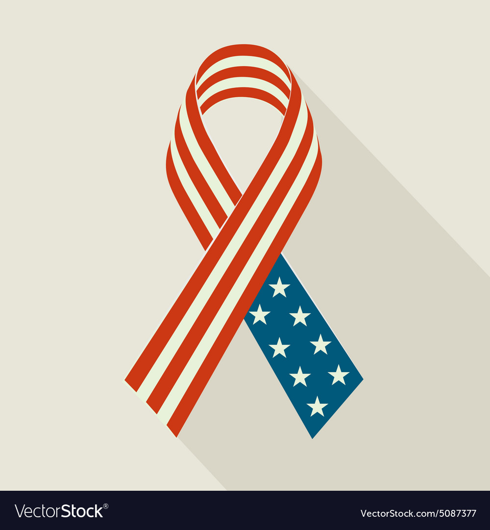 Creative ribbon with usa flag for memorial day vector