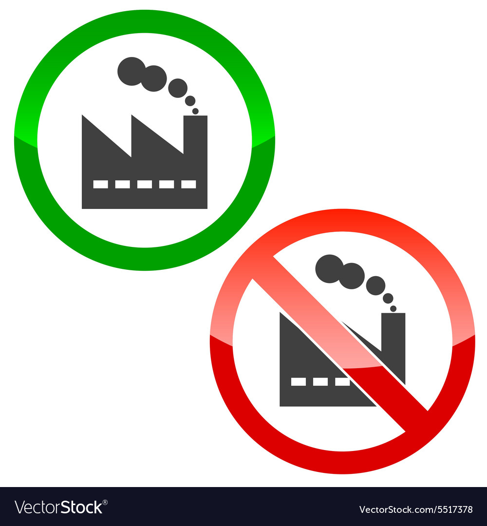 Factory permission signs set vector