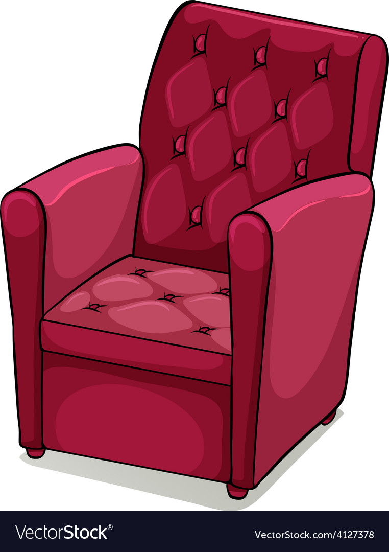 Red comfortable furniture vector