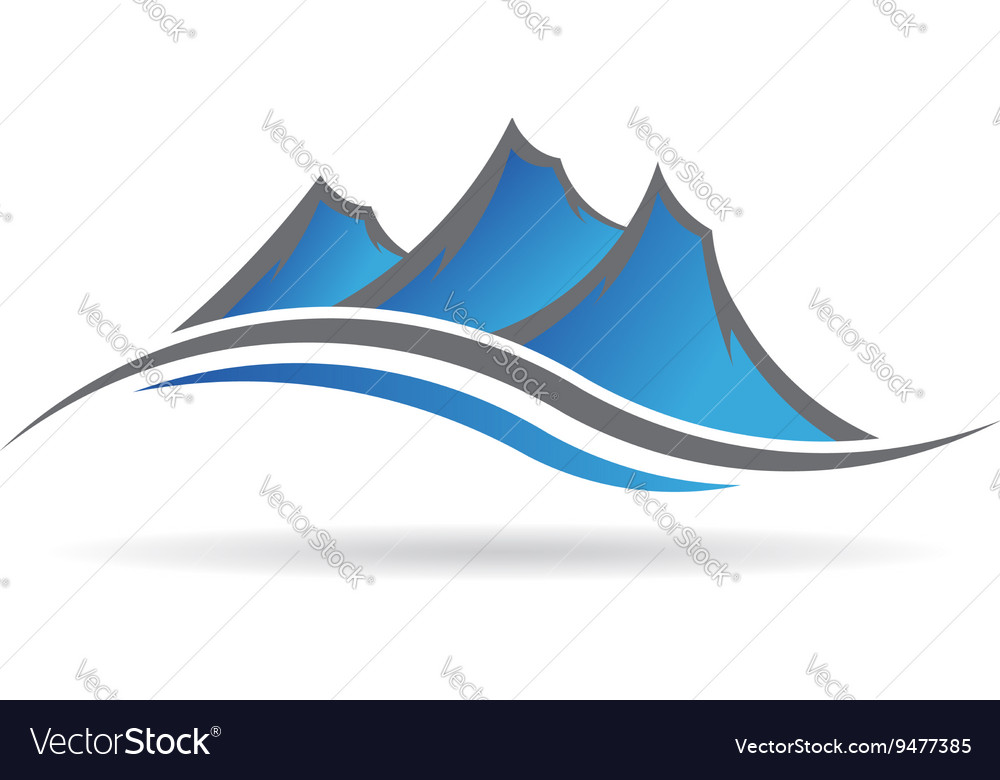 Mountains logo image vector