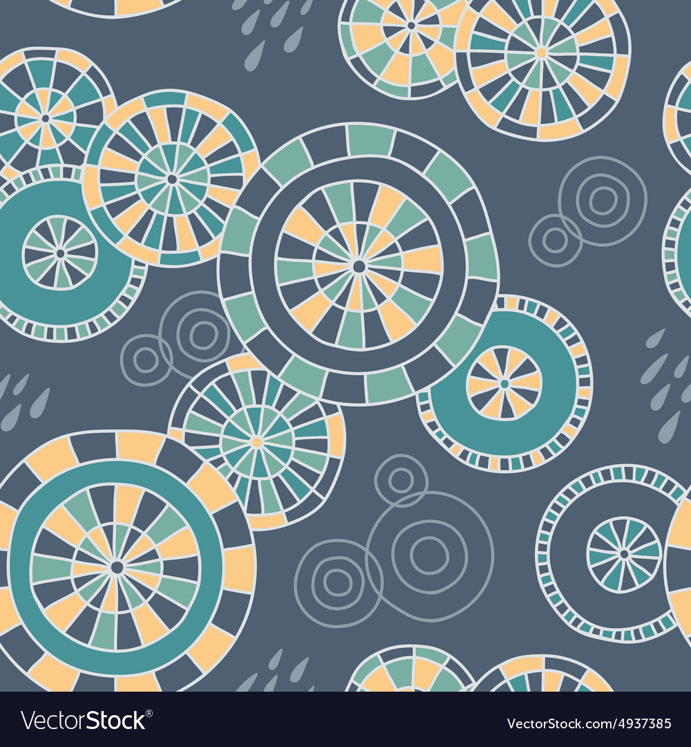 Rain in kyoto  seamless pattern vector