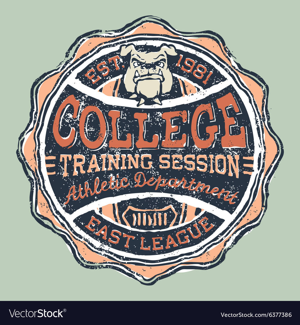 Bulldog college athletic department vector