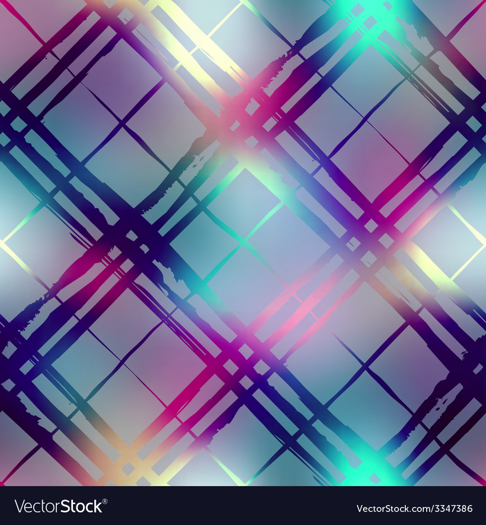 Diagonal plaid on blur background vector