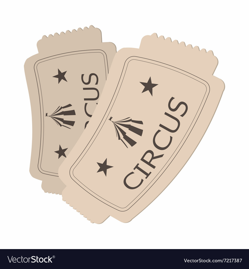 Circus show paper tickets cartoon vector