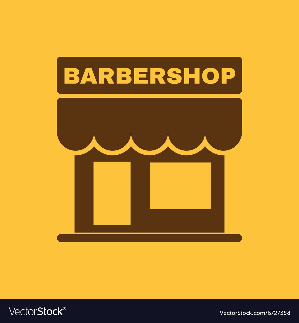 Barbershop building icon barbershop symbol vector