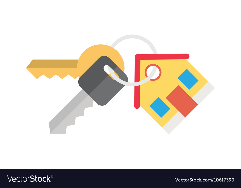 House and key selling renting vector