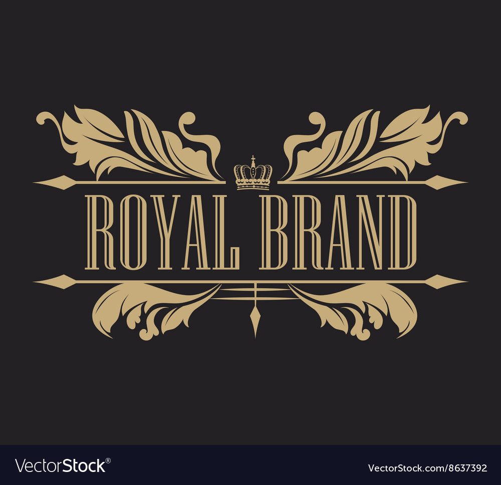 Emblem royal quality design vector