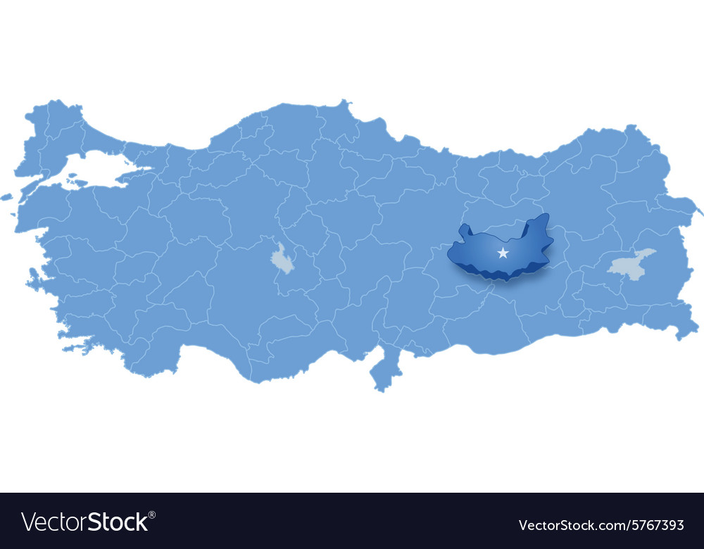Map of turkey elazig vector