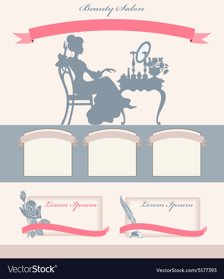 Template for beauty salon vector