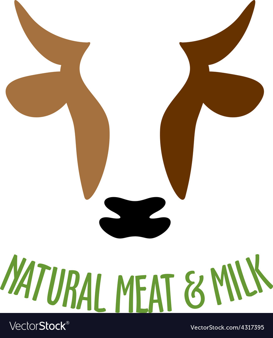 Cow head logo vector