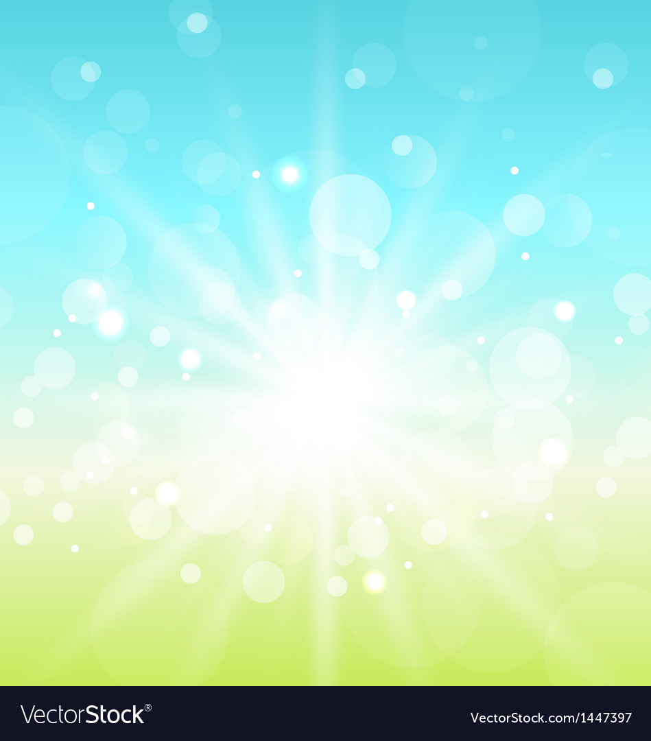Easter nature background with lens flare vector