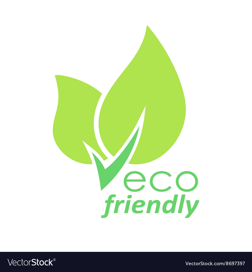 Eco friendly green leaves logo vector