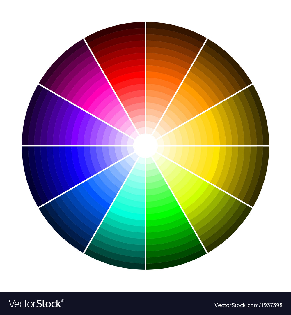 Color wheel with shade of colors vector