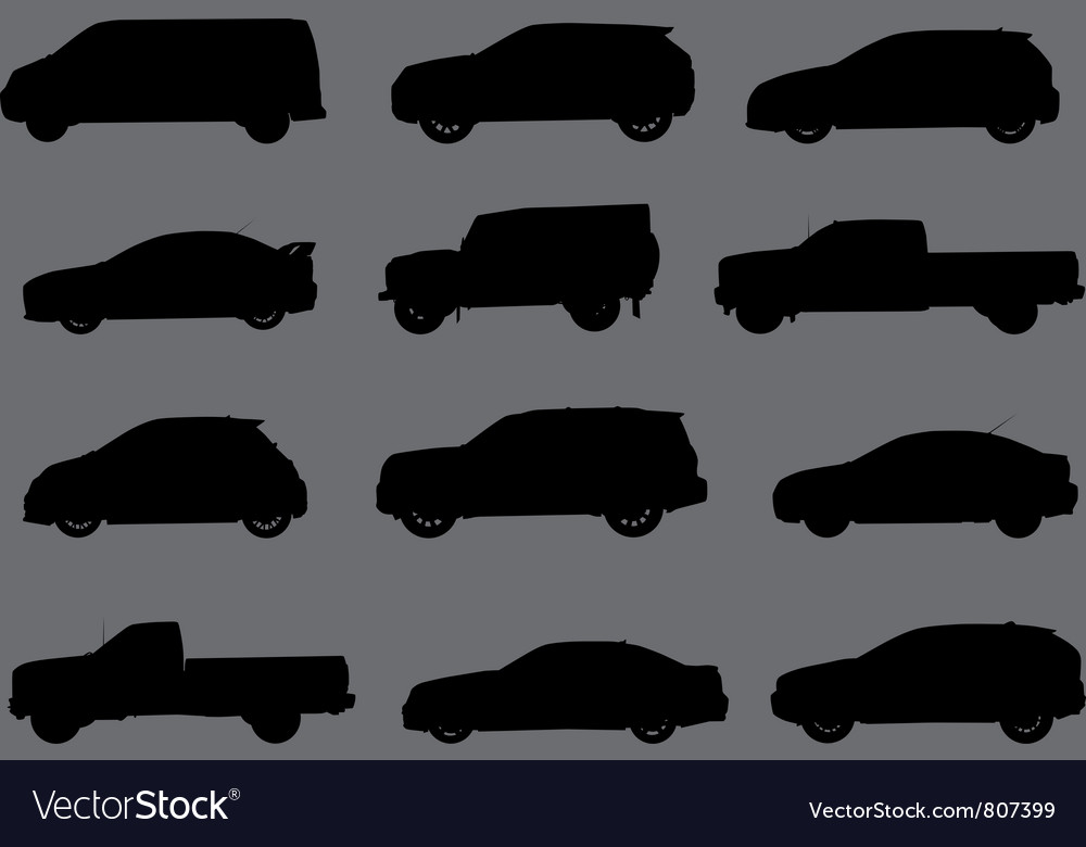Cars silhouettes part 3 vector
