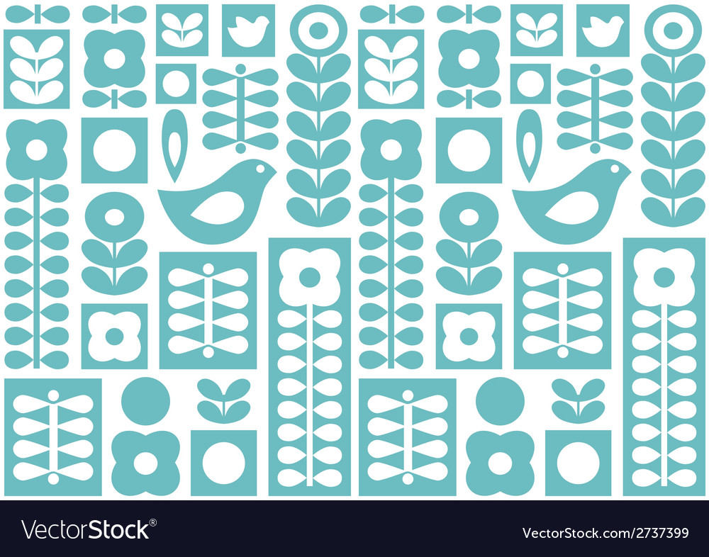 Nordic folk ornament vector