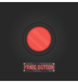 Panic button sign on black background vector image