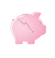 Cracked pink piggy bank vector image vector image