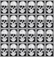 Skull pattern background vector image vector image