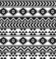 Aztec tribal seamless black and white pattern vector image