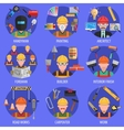 Worker Icons Set vector image