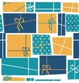 Gift Box Holiday Seamless Pattern Background vector image