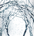 Abstract Christmas Design with winter background vector image vector image
