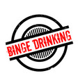 binge drinking rubber stamp vector image