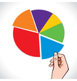 color blank business chart vector image