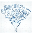Education things doodle vector image