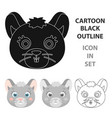 mouse muzzle icon in cartoon style isolated on vector image