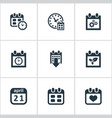 set of simple time icons vector image
