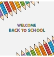 Welcome back to school bacground with text vector image