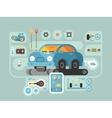 Diagnostics of machines in service station vector image vector image