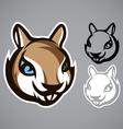 Squirrel head gray logo emblem vector image