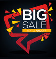 big sale speech bubble discount banner and label vector image vector image