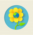earth day paper cut out flower world concept vector image