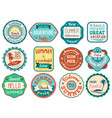 vintage retro grunge summer vacation travel labels vector image vector image