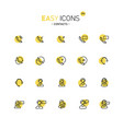 easy icons 29d contacts vector image