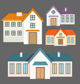 colorful flat houses collection vector image