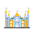 colorful fairytale royal castle or palace building vector image vector image
