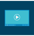 Video player for web flat design vector image vector image