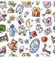 Baby seamless pattern for your design vector image vector image
