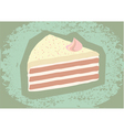 retro grunge cake vector image vector image