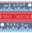 Merry xmas seamless nordic pattern with winter mo vector image